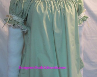DDNJ Choose Color Renaissance OFF Shoulder Chemise Plus Custom Made ANY Size Pirate Medieval Wench Costume Nightgown Victorian Gypsy Cosplay