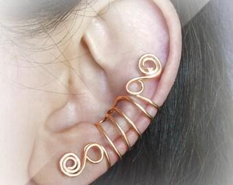 Gold Ear Cuff 24K Gold plated Ear Wrap