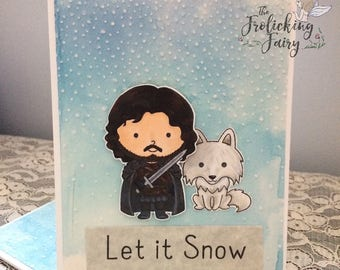 Let it Snow with night's watchman and his Dire Wolf - Heirs to the Throne