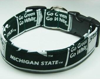 Michigan State Spartans Dog Collar