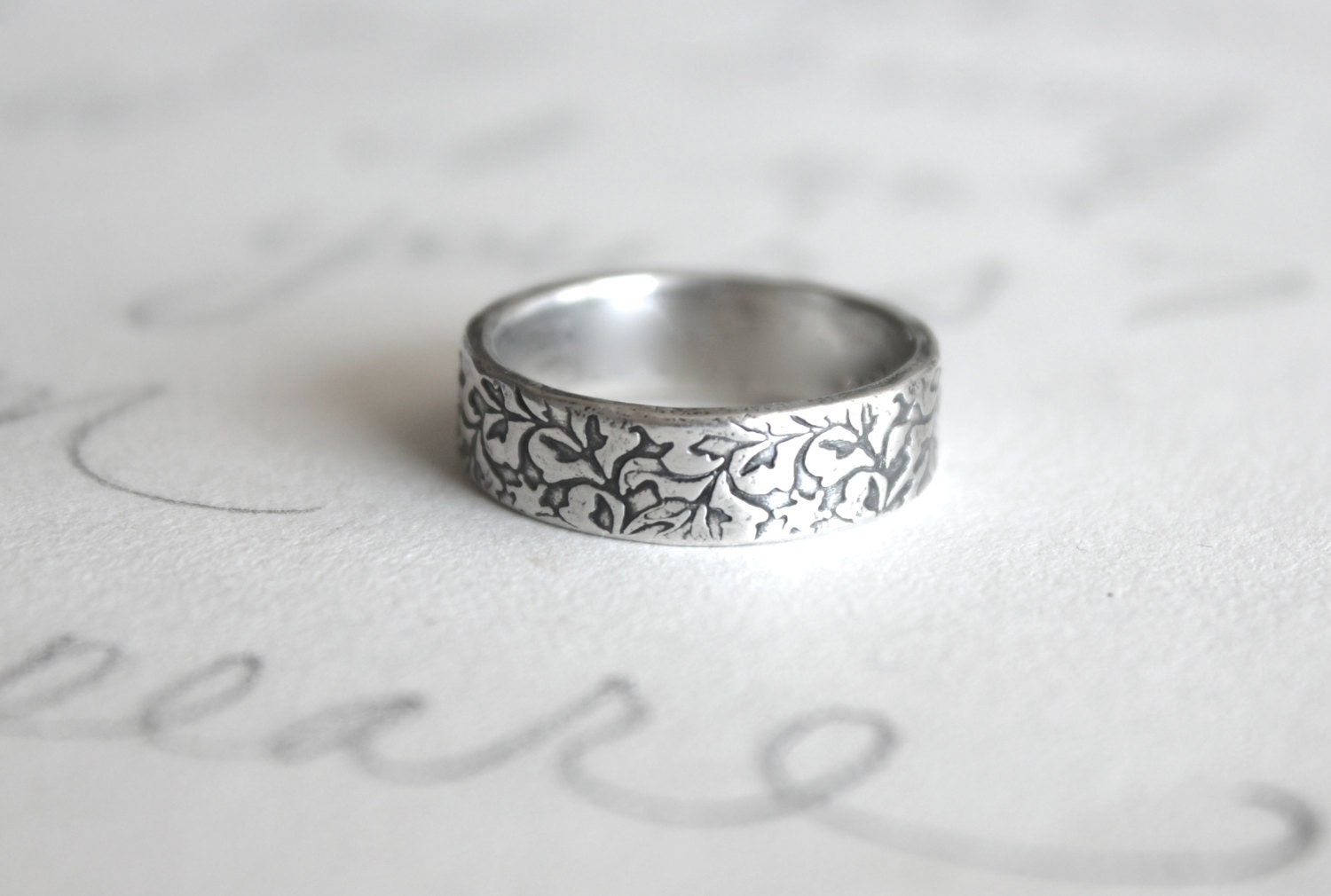 Mens Wedding Band Ring Simple Silver Always