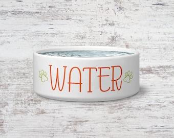 Water Pet Bowl Small or Large Dog Bowl Ceramic Cat Bowl Dish Pet