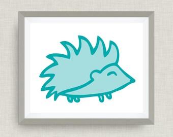 Hedgehog Art Print - Custom Nursery Art