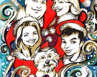 Christmas Caricature/Cartoon Greeting Cards of your Family