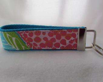Keyfob wristlet / Lilly Pulitzer fabric / key fob