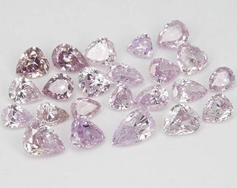 1.48 Ct/23 Pcs Lot Pears 100% Untreated Natural Argyle Pink Diamond