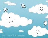 Cute illustrated fluffy c...