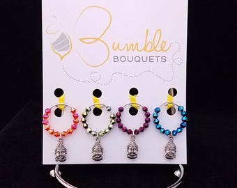 Wine glass marker - Lama charms