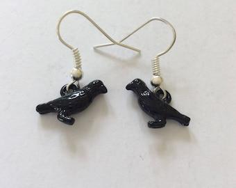 Blackbird earrings / bird jewellery / animal jewellery / animal lover gift