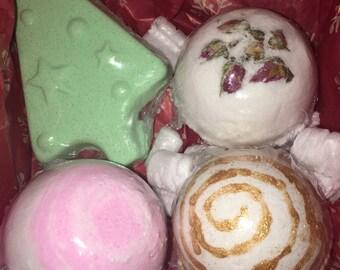 Valentime gift box 4 bath bombs