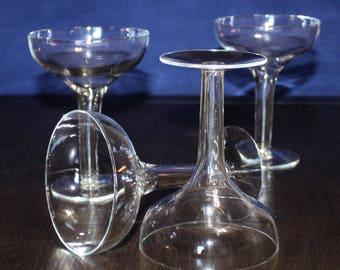 Vintage Set of 4 Hollow Stem Champagne Glasses