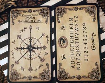 Pocket Spirit Board. Portable Pendulum Board. Dowsing. Scrying Spirit Board. Spirit Board. Scrying. Clairvoyant. Fortune Telling. Spirit