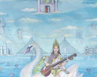 Saraswati Lotus Pearls, The Ecstatic Poetry, Art & Wisdom of a Modern Day Gopi