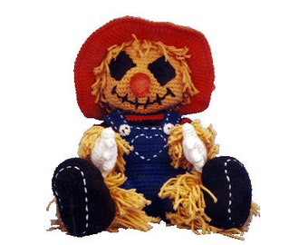 PDF Amigurumi Pattern Scarecrow  - Crochet Scarecrow Pattern (7034) Td creations