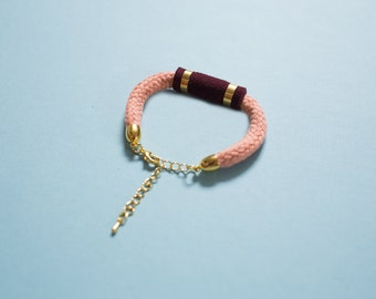 Velvet Emerald - Bracelet in rosé & burgundy