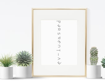 Keep Perspective // Typography Poster // A4 // A5 // Digital Download File