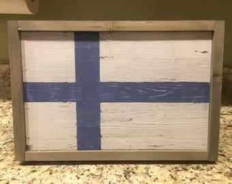 Farmhouse Finnish Flag Sign
