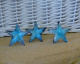 One Star Drawer Knob. StarKnob. Starfish Handle. Starfish Knob. Dresser Knob. Furniture Knob. Beach Decor. Starfish Decor. Coastal Decor.