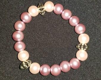 Pink Rouge Pearl Bracelet