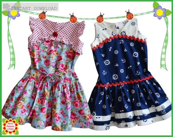 GATSBY Girls DRESS PATTERN + Free Mother-Daughter Apron Pattern ...