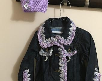 Embellished kids adult and junior denim jackets
