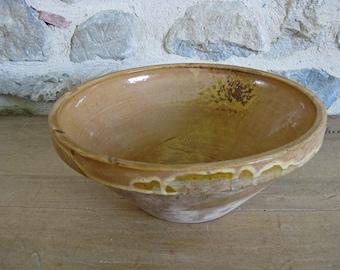 French confit bowl, antique tian, farmhouse bowl
