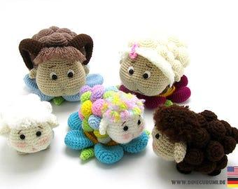 Sheep family crochet pattern amigurumi