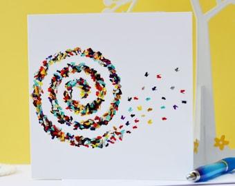 Card for designer etsy swirl butterfly card butterfly birthday card designer birthday card designer art card bookmarktalkfo Gallery