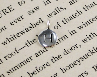 """Sterling Silver Letter  """"H"""" Charm"""