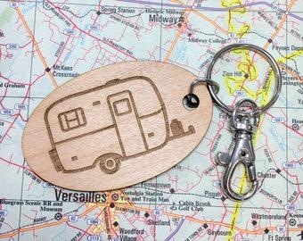 Scamp Camper Key Chain, Casita Trailer, Burro Camper, Boler Camper, Egg Camper, Camper Keyring, Trailer Key Fob, Camping Gift, Camper Decor