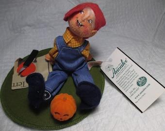 "Annalee 7"" Jeff & Jack O Lantern Doll Figure with its Original Price Tag ORIGINAL PRICE TAG vintage collectible halloween decoration"
