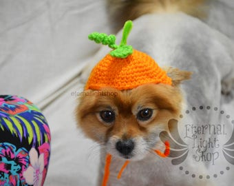 Pet Pumpkin Hat Beanie (XS-XL) Any Colors