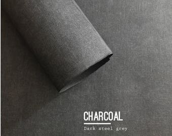 Hand made textured wrapping paper - black charcoal