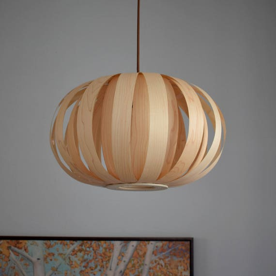 Exceptional Pendant Light//Pumpkin Wood Pendant Lamp,Maple Veneer//Ceiling Light Hanging  Lamp Chandelier Lighting Wood Ceiling Light Pendant Lighting Awesome Design