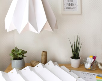 DIY origami lampshade | easy and beautiful origami pendent light | no cuts no glue | perfect gift