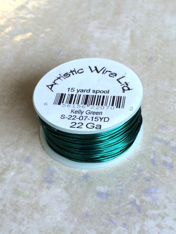 Kelly Green 22 Gauge Jewelry & Craft Wire Artistic Wire