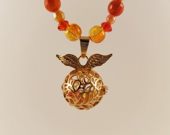 Fiery Golden Snitch Necklace