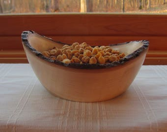 Hand-turned wooden Maple bowl