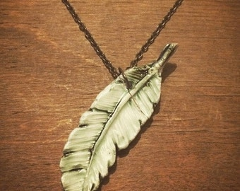Porcelain Feather Necklace