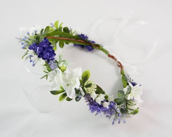 Lavender flower crown,bridal headband, bridal headpiece, flower crown, bridal, wedding accessories