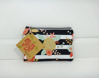Piper Floral Small Cosmetic Bag, Small Pouch, Makeup Bag, Small Pouch Purse, Zipper Pouch, Makeup Pouch, Small Cosmetic Bag