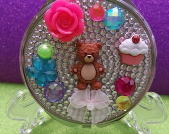 I love Teddy Bears Compact Purse Mirror
