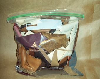 1 lb Cowhide Leather Scrap Pieces for Arts and Crafts