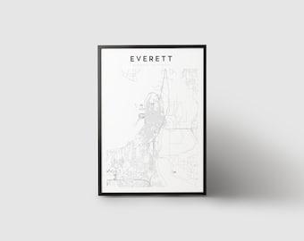 Everett Map Print