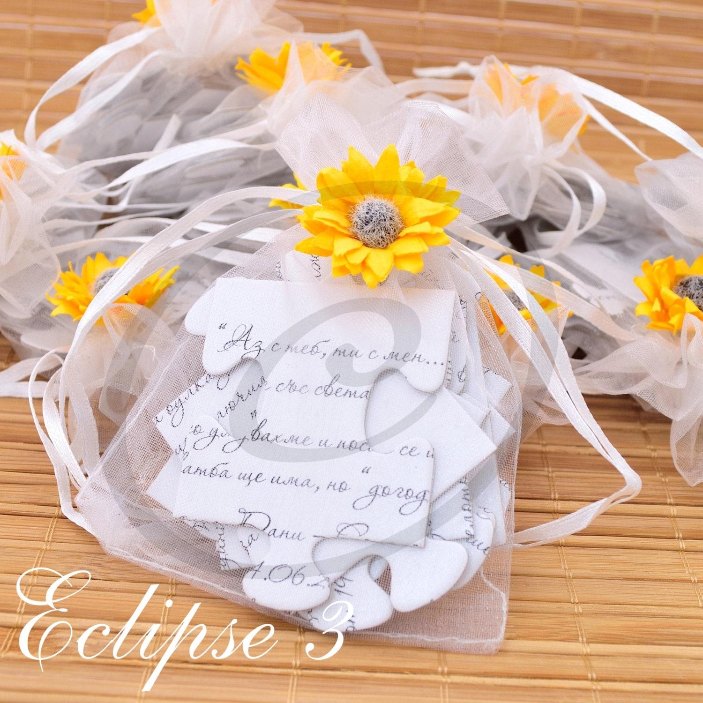 Hochzeit Einladungen Sonnenblumen Puzzle Hochzeitseinladungen - Einladungskarte Sonnenblume