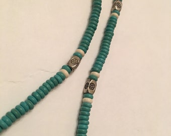 """24"""" turquoise howlite necklace"""