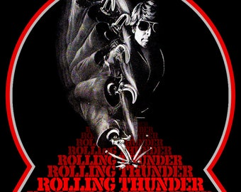 70's Grindhouse Classic Rolling Thunder Poster Art custom tee Any Size Any Color