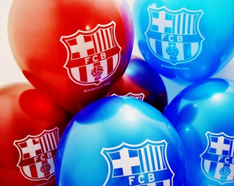 FC Barcelona Party Balloons 10 PCS Latex Blue Red Decoration FCB Birthday