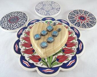 Sterling Silver Blue Chalcedony Earrings, Silver Earrings, Chalcedony Earrings, Zircon Earrings, Blue Earrings, Earrings, Valentine