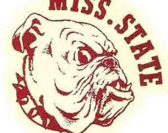 Vintage Style   Mississippi State  University Bulldogs Souvenir Travel Decal sticker college